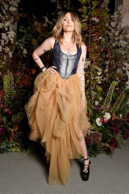 PARIS, FRANCE - OCTOBER 01: Paris Jackson attends Vogue Paris 100th Anniversary Exhibition as ...