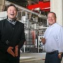 GRUENHEIDE, GERMANY - AUGUST 13: Tesla CEO Elon Musk and Armin Laschet, CDU Federal Chairman and Pri...