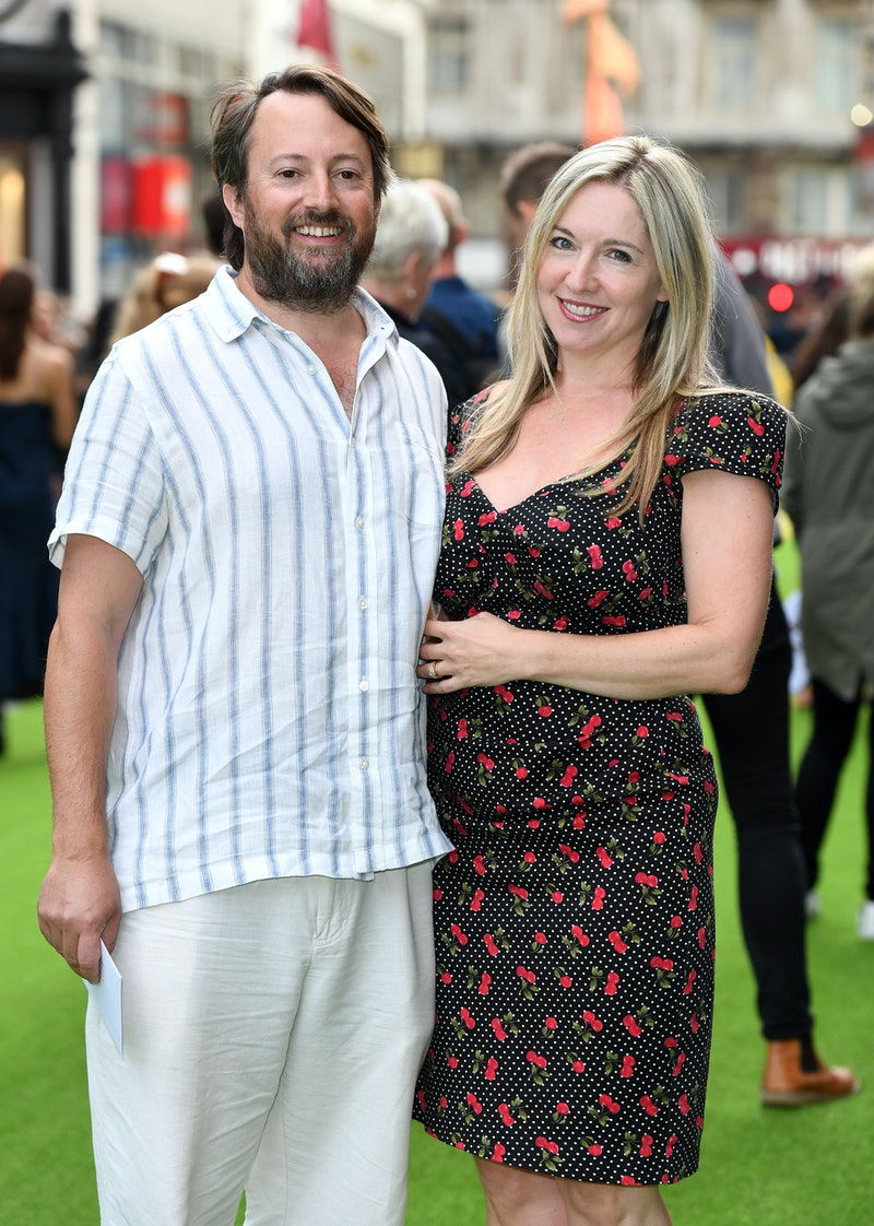 LONDON, ENGLAND - AUGUST 13:  David Mitchell and Victoria Coren Mitchell attend the World Premiere o...