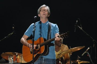 MUNICH, GERMANY - JUNE 09: Eric Clapton performs on stage at Olympiahalle on June 9, 2013 in Munich,...