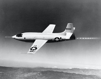 1940s 1950s BELL X-1 US AIR FORCE SUPERSONIC PLANE DESIGNED FOR MAXIMUM SPEED OF 1700 MPH IN FLIGHT ...