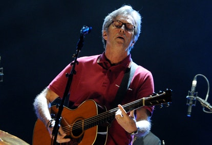 British musician Eric Clapton performs on the stage in O2-World in Hamburg, Germany, 01 June 2013. P...