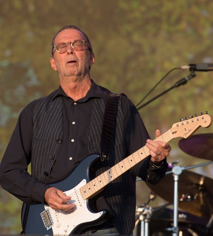 LONDON, ENGLAND - JULY 08:  Eric Clapton performs live at Barclaycard present British Summer Time Hy...