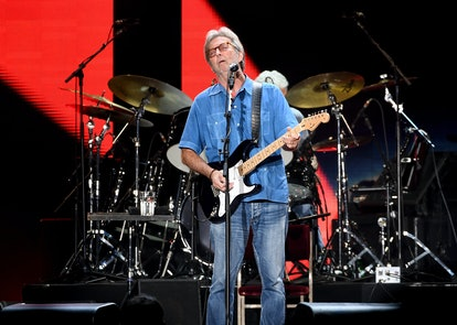 INGLEWOOD, CA - SEPTEMBER 18:  Musician Eric Clapton performs at The Forum on September 18, 2017 in ...