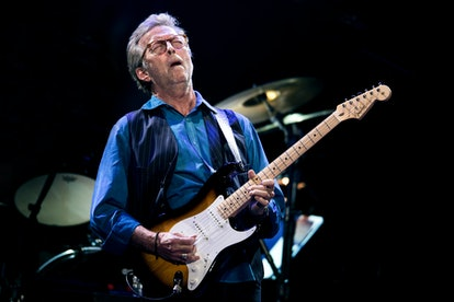LONDON, ENGLAND - MAY 14:  Eric Clapton performs at Royal Albert Hall on May 14, 2015 in London, Uni...