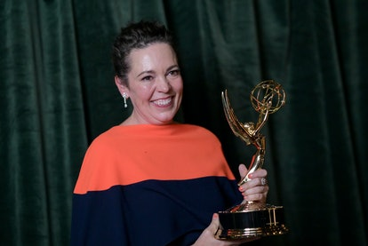 """Olivia Colman with her Emmy award for 'Outstanding Lead Actress' for """"The Crown"""" will also star in '..."""