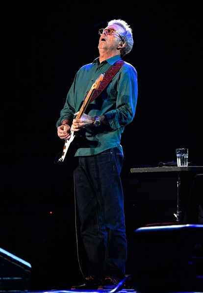 NEW YORK, NY - MAY 01:  Eric Clapton performs onstage during his 70th Birthday Concert Celebration a...