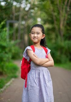 Little Schoolgirl Arms Crossed
