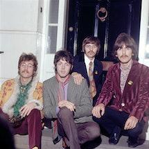 LONDON - MAY 19: English singer, songwriter and guitarist John Lennon (1940-1980), English singer, s...