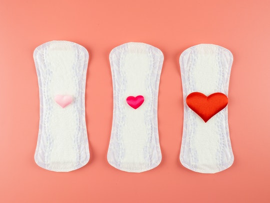 Menstruation concept. Directly above studio shot
