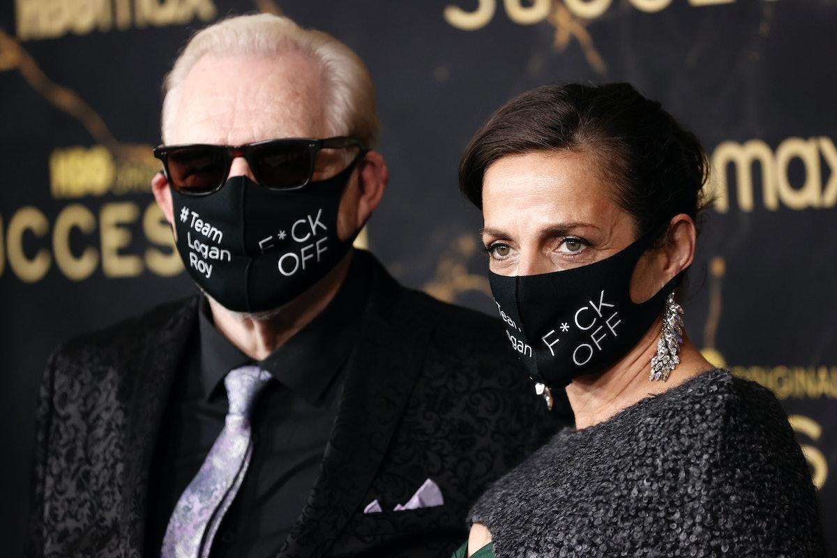 "NEW YORK, NEW YORK - OCTOBER 12: Brian Cox and Nicole Ansari-Cox attend the HBO's ""Succession"" Seaso..."