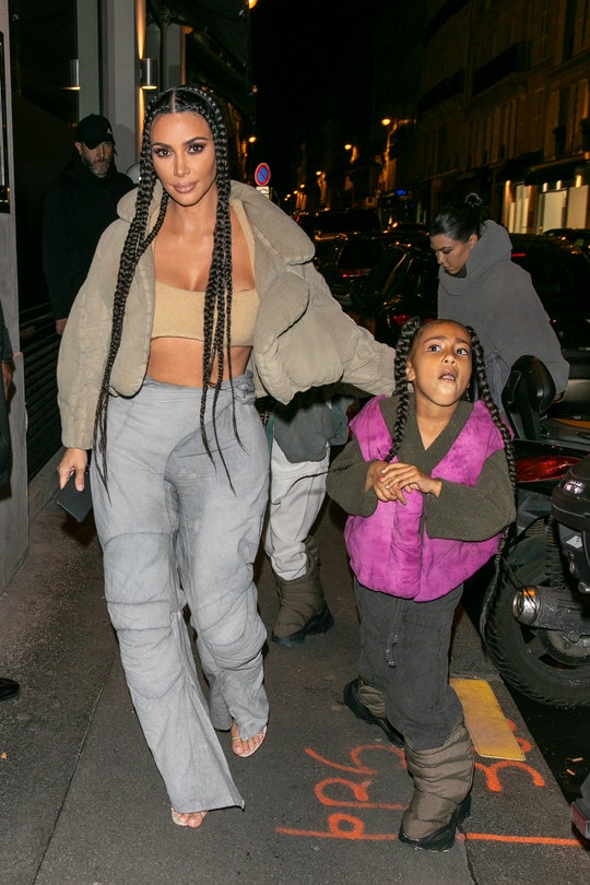 Kim Kardashian's daughter North knows how to get to her mom.