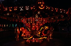 Halloween decorations are seen on display during the Great Jack OLantern Blaze in Croton-on-Hudson, ...