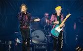 CHARLOTTE, NORTH CAROLINA - SEPTEMBER 30: Singer Mick Jagger (L) and guitarist Keith Richards of The...
