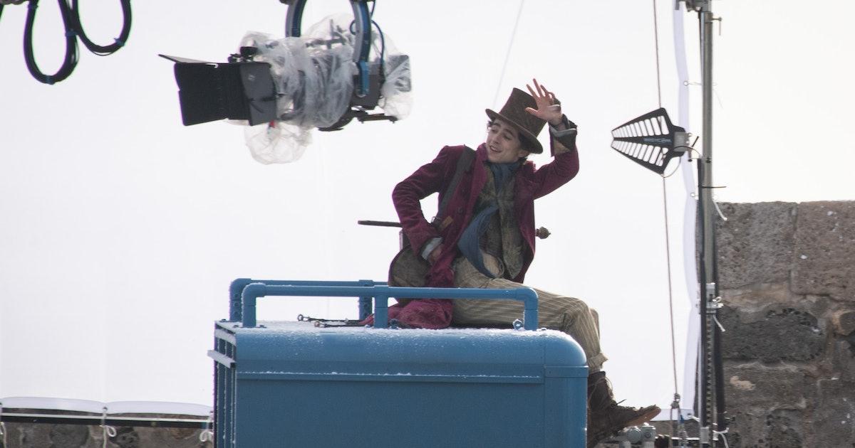 Timothée Chalamet's Wonka Set Photos Already Have The Internet Buzzing