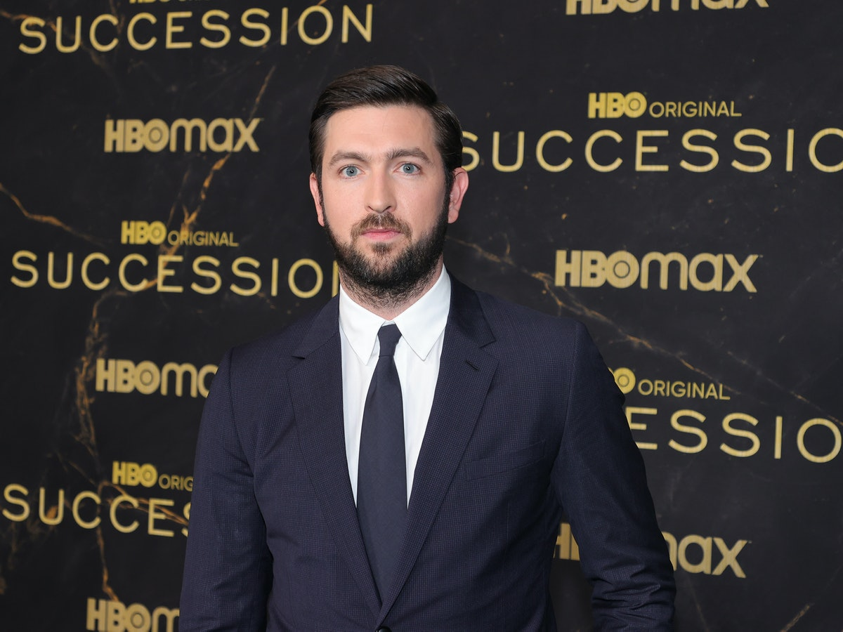 """NEW YORK, NEW YORK - OCTOBER 12: Nicholas Braun attends the HBO's """"Succession"""" Season 3 Premiere at ..."""