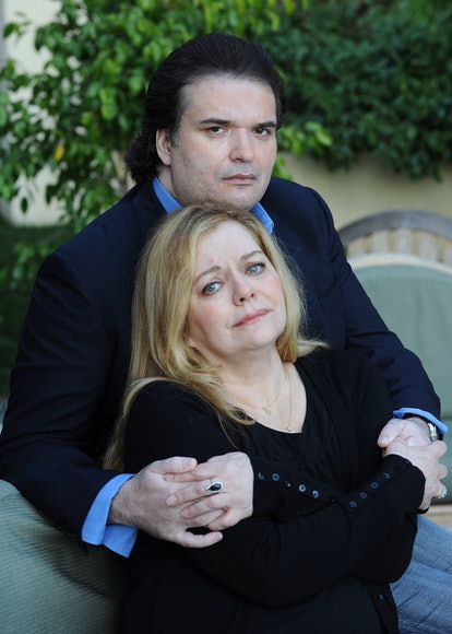 Brittany Murphy's mom Sharon and husband Simon Monjack during a photo shoot on January 13, 2010 in H...
