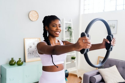 Pilates can be done using body weight, a Reformer, or tools like a ring.
