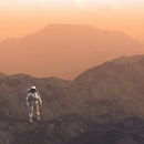 Astronaut exploring Mars