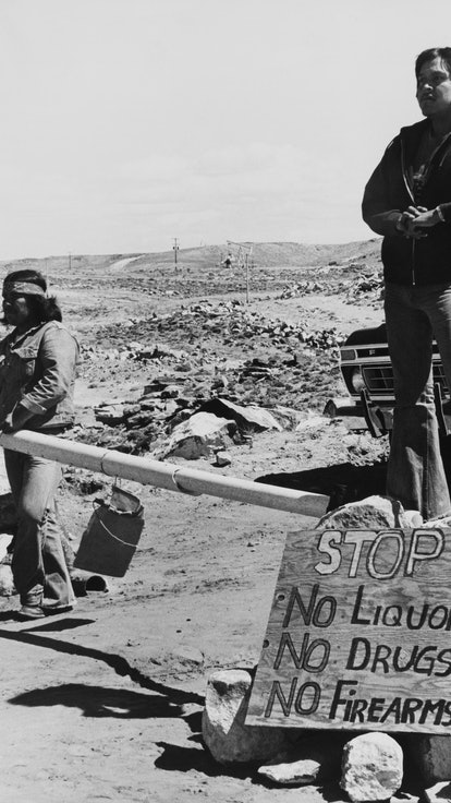 UNITED STATES - JANUARY 01:  Navajo Indians Protesting And Demanding Justice At Utah In Usa  (Photo ...