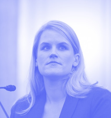 WASHINGTON, DC - OCTOBER 05: Facebook whistleblower, Frances Haugen appears before the Senate Commer...