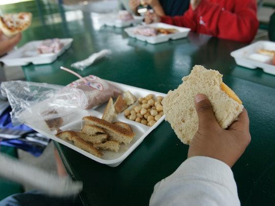 June 12, 2007. Chula Vista, CA. A 4th grade boy stripped the crust from his plain cheese sandwich. H...