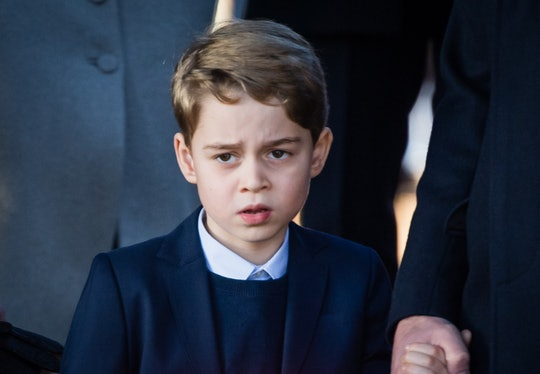 KING'S LYNN, ENGLAND - DECEMBER 25:  Prince George of Cambridge attends the Christmas Day Church ser...