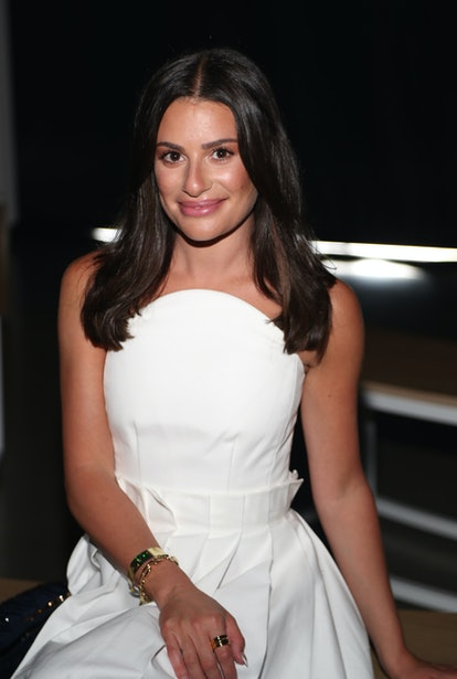 NEW YORK, NEW YORK - SEPTEMBER 08: Lea Michele attends the front row for the DUNCAN NYFW Spring/Summ...