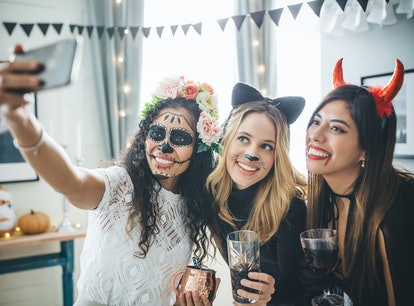 Post a costume photo with a Halloween Instagram caption.