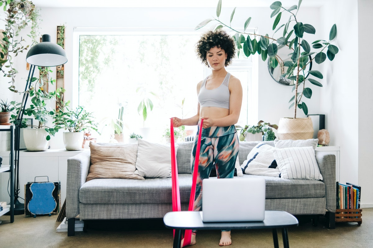 Try these resistance band leg workouts on your next lower body strength day.