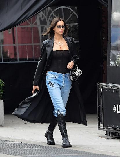 NEW YORK, NY - NOVEMBER 11: Model Irina Shayk is seen walking in SoHo on November 11, 2020 in New York ...