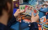 LONDON, ENGLAND - NOVEMBER 17:  Attendees compete at the Pokemon European International Championship...