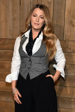 NEW YORK, NEW YORK - FEBRUARY 12: Blake Lively attends the Michael Kors FW20 Runway Show on February...