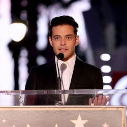 HOLLYWOOD, CALIFORNIA - OCTOBER 06: Rami Malek attends the Hollywood Walk of Fame Star Ceremony for ...