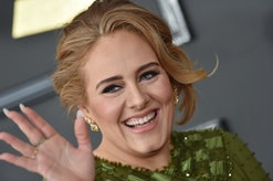 LOS ANGELES, CA - FEBRUARY 12:  Recording artist Adele attends the 59th GRAMMY Awards at STAPLES Cen...