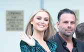 LOS ANGELES, CA - JULY 19:  Lala Kent and Randall Emmett are seen on July 19, 2021 in Los Angeles, C...