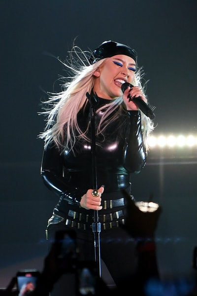 LAS VEGAS, NEVADA - JUNE 10: Christina Aguilera performs during the Unstoppable Weekend grand openin...