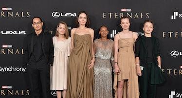 Maddox Jolie-Pitt, Vivienne Jolie-Pitt, Angelina Jolie, Knox Jolie-Pitt, Shiloh Jolie-Pitt, and Zaha...