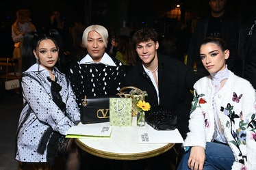 Bella Poarch, BryanBoy, Noah Beck and Dixie D'Amelio attend the Valentino Womenswear Spring/Summer 2...