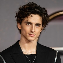 """LONDON, ENGLAND - OCTOBER 18: Timothée Chalamet attends the """"Dune"""" UK Special Screening at Odeon Lux..."""