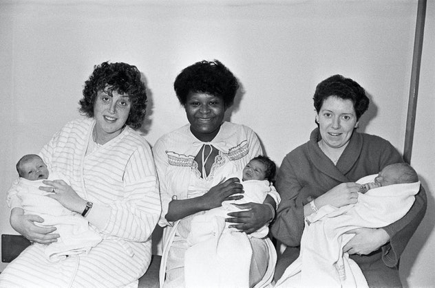 A trio of babies born on Christmas Day 1985.