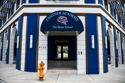 Center Academy private school building is seen in Miamis Design District  in Miami, on April 27, 202...