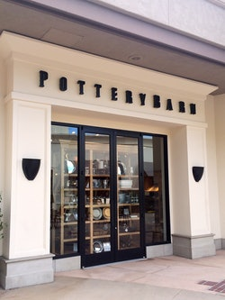 Pottery Barn storefront sign