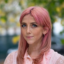 CHELTENHAM, ENGLAND - OCTOBER 13: Scarlett Curtis, author and Pink Protest founder, at the Cheltenha...
