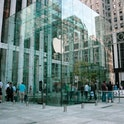 Apple store glass cube in 5th avenue in Manhattan, New York, USA Oct 2007