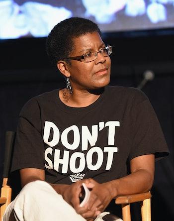 "LOS ANGELES, CA - JUNE 11: Author Tananarive Due attends the ""#BlackLifeBlackProtest"" screening duri..."