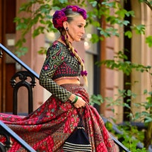 """Sarah Jessica Parker seen on the set of """"And Just Like That..."""" wearing a lehenga"""