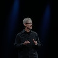 Apple CEO Tim Cook speaks during the keynote at the  Worldwide Developers Conference 2012 at Moscone...