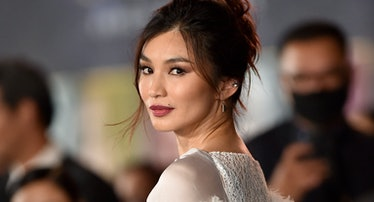 LOS ANGELES, CALIFORNIA - OCTOBER 18: Gemma Chan attends the Los Angeles Premiere of Marvel Studios'...