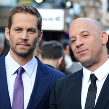 LONDON, ENGLAND - MAY 07:  (L-R) Paul Walker and Vin Diesel attend the world premiere of 'Fast And F...